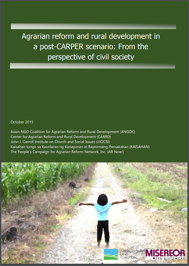 Agrarian reform and rural development in a post- CARPER scenario: From the perspective of civil society